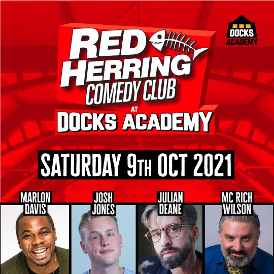 Red Herring Comedy Club – Saturday 9th October